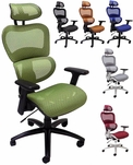 HumanFlex Elastic All Mesh Ergonomic Office Chair w/Headrest