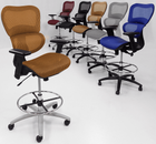 "HumanFlex Office Stool w/22""-30"" Seat Height"