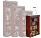 """Huntington Cherry Bookcase Collection - 48"""" High Cherry Bookcase"""