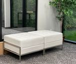 Ivory Tufted Modular Reception Series - 2-Person Bench