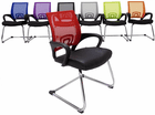 300 Lbs. Capacity Leather & Mesh Color Burst Guest/Reception Chairs