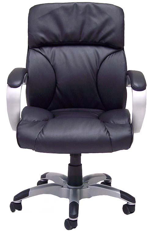 Leather Pillow Cushion Office Chair in Black or Brown
