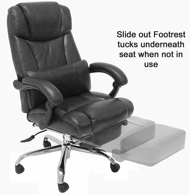 Leather Reclining Office Chair W