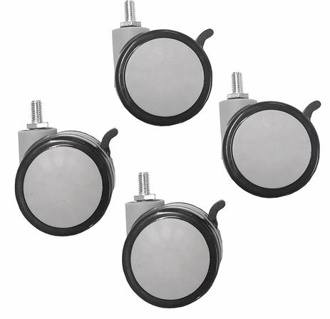 Locking Set of Swivel Casters for Pneumatic Sit-Stand Tilt & Roll Tables