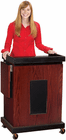 Mahogany Multi Media Presentation Stand w/Built-In Sound System