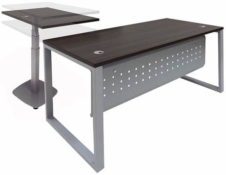 Manager's L-Desk w/Electric Lift Desk Return