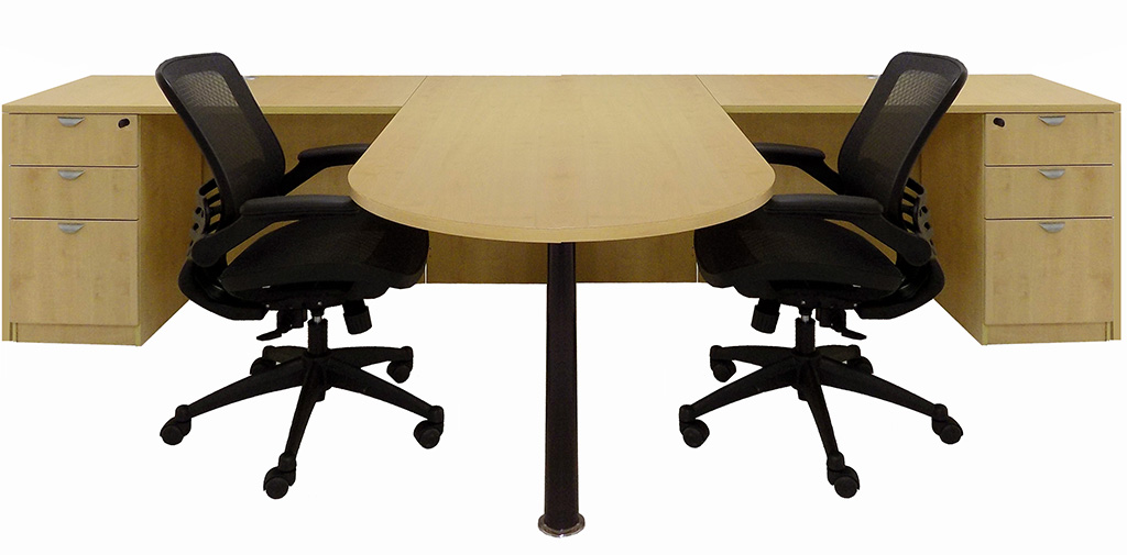 Maple 2 Person Shared Office Desk