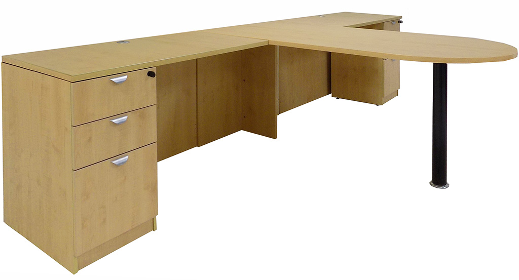 Maple 2-Person Shared Office Desk