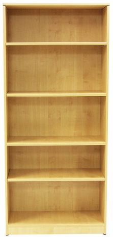 Maple 5-Shelf Bookcase
