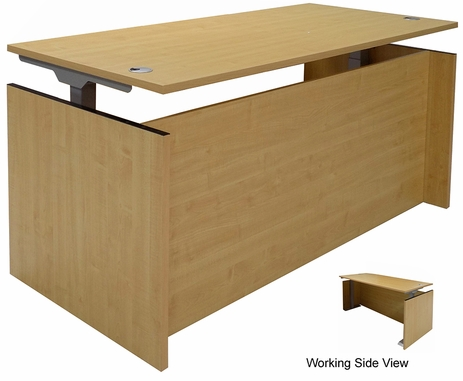 Maple Adjustable Height Manager's Desk