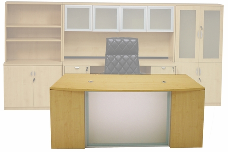 Maple Glass Front  Conference Desk