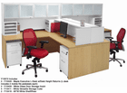 Maple & White Structures  2-Person Shared Workstation
