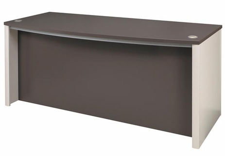 Metro Bow Front Desk Shell