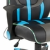 Mid Back Gaming Chair with LED Light Piping & Flip Up Arms