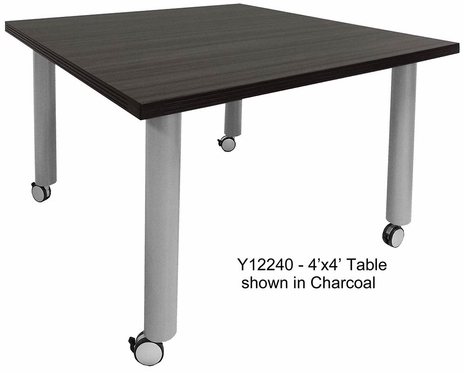 Mobile Modular Conference Tables.  4' x 4' Square-See Other Sizes Below