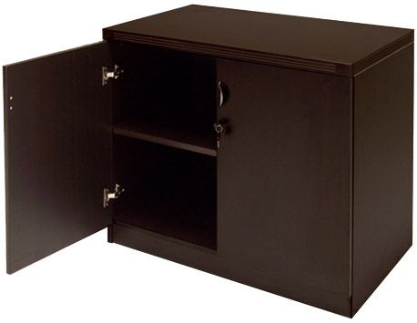 Mocha 2-Door Locking Storage Cabinet