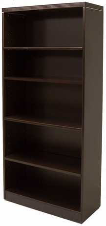Mocha 5-Shelf  Bookcase