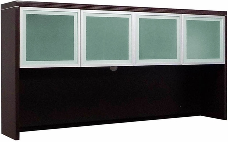 Mocha Glass Door Hutch
