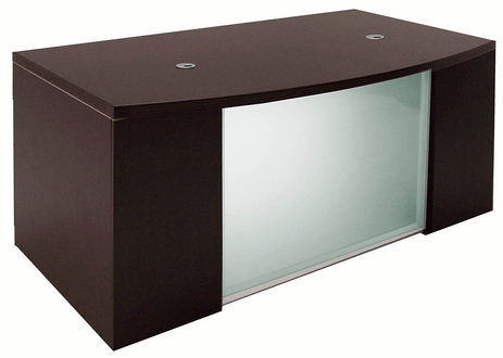 Mocha Glass Front  Conference Desk