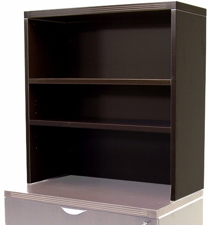 Mocha Lateral File/Storage Cabinet Bookcase Hutch