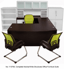 Mocha/White Complete Structures Office Furniture Suite