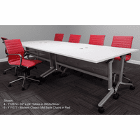 Modular Flip & Stow Conference Table.  48