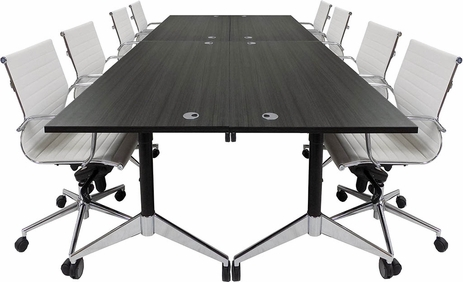 Modular Flip Top Conference Table.  60