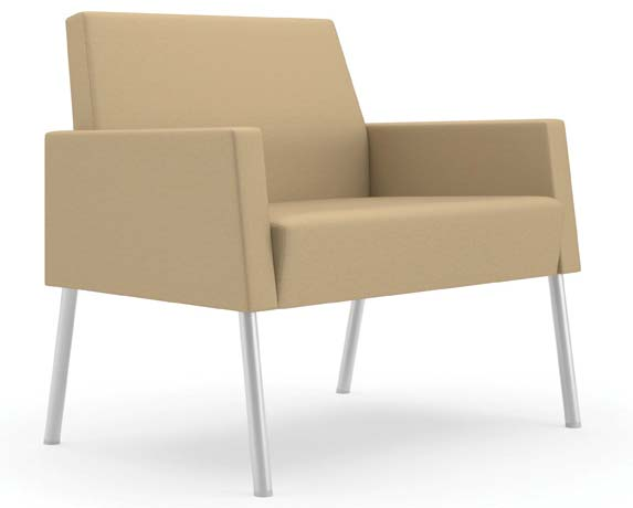 Mystic Lounge 750 lb Capacity Panel Arm Bariatric Lounge Chair in Standard Fabric or Vinyl - See More Sizes