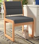 Oak Reception Chair Value Series - 400 lb Capacity Armless Chair