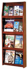 Open Front Oak Literature Displays -- 16 Pamphlet/8 Magazine Display
