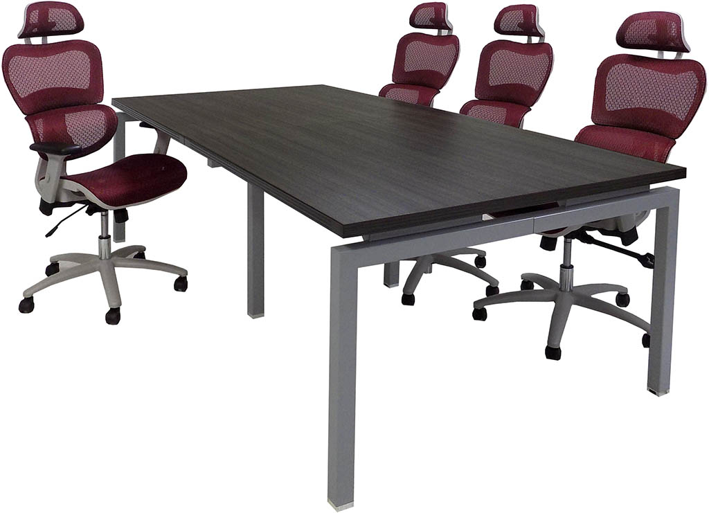 Open Plan Expandable Conference Table - 8' Length - See Other Sizes Below