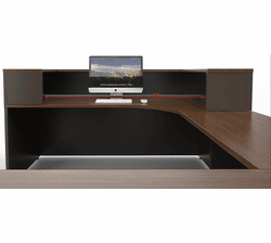 Ovation Custom Reception Workstation w/Wardrobe Cabinet