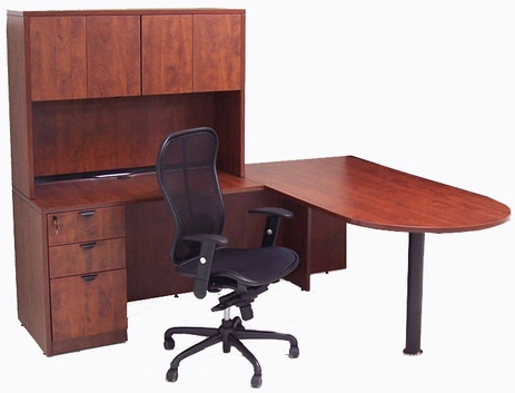 Peninsula L-Shaped Desk w/48