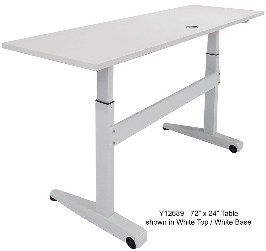 Pneumatic Height Adjustable Mobile Table 60 X 24 See Other Sizes Below