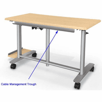 Pneumatic Lift Adjustable Height Workstation