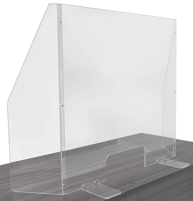 30 W X 31 1 2 H Portable Acrylic Sneeze Guard W 9 Side Wings In Stock