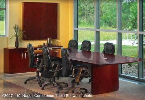 QuickShip Wood Veneer Napoli Conference Tables - 6' Table - See Other Sizes