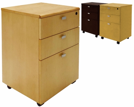Real Wood Mobile File Cabinet w/Lock