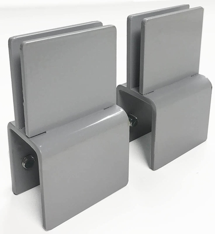Set of 2 Sneeze Guard Clamps for Cubicles - For Panel Walls .75