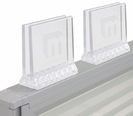 Set of 2 Universal Clear Polycarbonate Sneeze Guard Clamps - IN STOCK!