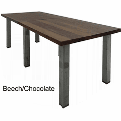 Solid Wood Rectangular Conference Table with Industrial Steel Legs - 8' x 3' - See Other Sizes