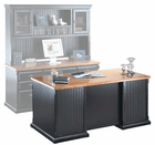 Southampton Oynx Black Office Furniture - Executive Desk