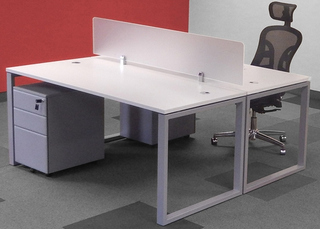 TrendSpaces 2-Person Basic Bench Workstation