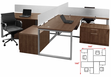 TrendSpaces Basic Open Office 4-Workstation Cluster