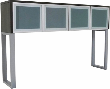 TrendSpaces Glass Door Hutch with Legs