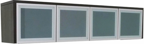 TrendSpaces Wall Mount Glass Door Hutch