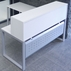 TrendSpaces White L-Shaped Reception Desk