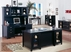 Tribeca Loft Black Office Furniture - Double Pedestal Executive Desk