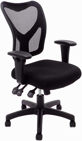 Versa-Function Black Mesh Ergonomic Office Chair