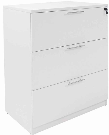 White 3-Drawer Lateral File